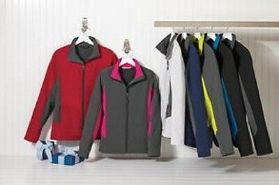 2 New Colorblock Soft Shell Jacket Embroidered Free4Ur Company Business XS- 2XL