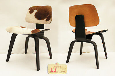 Chaise Charles Eames DCW Peau Lounge Chair Evans Herman Miller Vintage #2