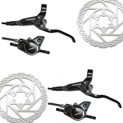 Kit Frenos de Disco Shimano M315 + 2 Discos RT56 160 mms