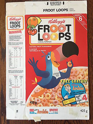 Archie Comic Vintage Cereal Box Kellogg's Froot Loops