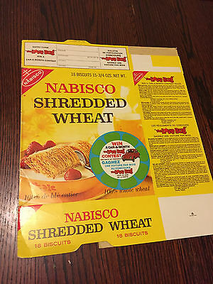 RARE FIND! Disney Love Bug Nabisco Shredded Wheat Vintage 1969 Cereal Box