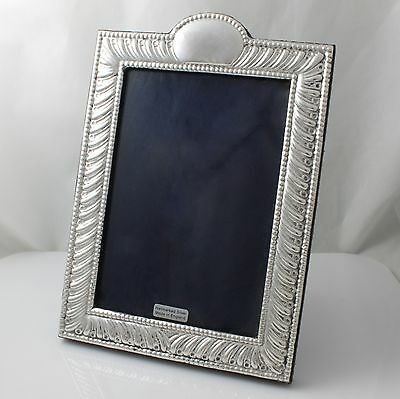 Unused Modern Solid Sterling Silver Photo Frame Hallmarked 2015 7½""
