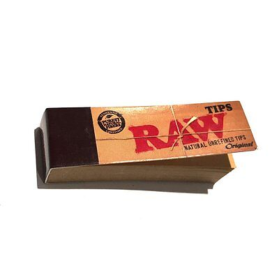 1x RAW ROLLING PAPERS FILTER TIPS UNREFINED (50 per pack)