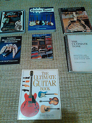 guitar and amp 7 book lot  the ultimate tone , Neptune bound, peavy the tube amp