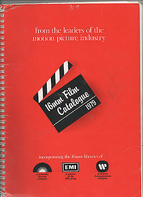 16mm FILM CATALOGUE 1979 WITH PRICES.  COLUMBIA - EMI - WARNER.