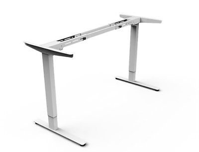 "Electric Height Adjustable Sit and Stand Desk (63"" width) Dual Motor (no top)"