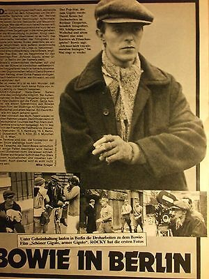 1 german clipping DAVID BOWIE N. SHIRTLESS SINGER ROCK POP BOY BAND BOYS GROUP