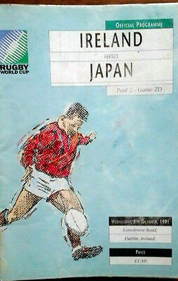 Ireland V Japan 9/10/1991 Rugby Union World Cup