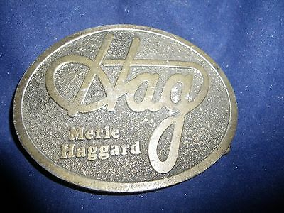 Vintage Merle Haggard Belt Buckle used