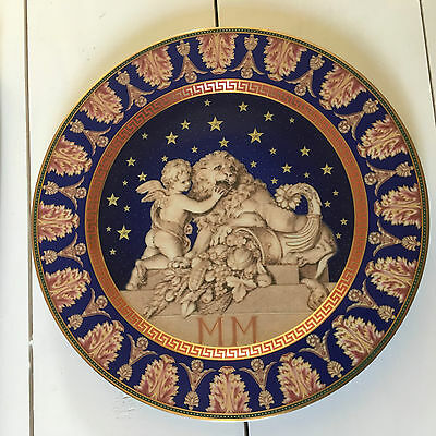 "Rosenthal Versace Limited Edition 2000 ""Christmastide"" 30cm Wall Plate & Box"