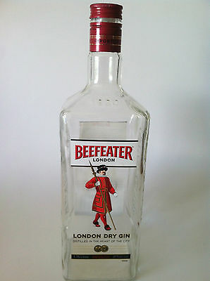 Beefeater London Distilled Dry Gin Glass Bottle Jar Advertising 1.75 litres