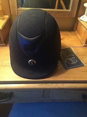 Gatehouse Conquest Mk II Navy Suede Riding Hat