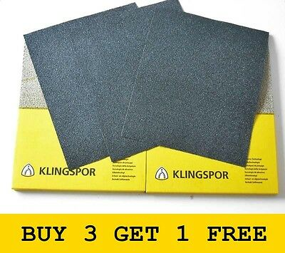 Wet And Dry Sandpaper 60 - 2500 Grit Klingspor Paper Mixed You Choose