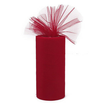 FK Tulle Roll Coil Tutu Wedding Bow Fabric Event Decor (red)