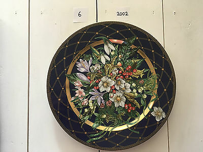"Rosenthal Versace Christmas 2002 ""Let There Be Love"" 30cm Wall Plate & Box"