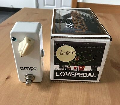 [NEW] RARE Lovepedal Amp 50 Booster Guitar Effects Pedal