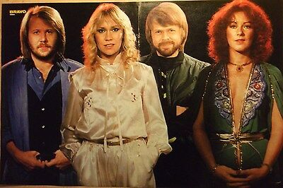 1 german poster ABBA AGNETHA ANNAFRID BENNY BJORN N. SHIRTLESS BOY BAND BOYS