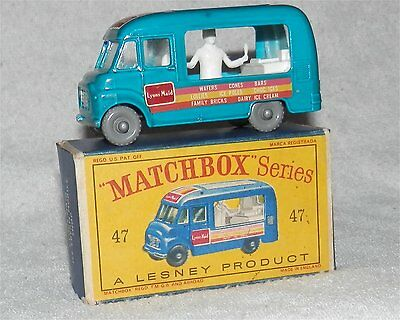 60s.Matchbox.Lesney,47,BLUE,Lyons Maid.ICE-CREAM,GREY PLASTIC Wheel,al.MINTinBOX