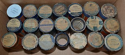 Edison Blue Amberol Cylinder Records - LOT of 21 Cylinders