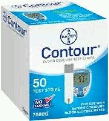 Contour Blood Glucose Test Strips a pack of 50 strips (New&Sealed)