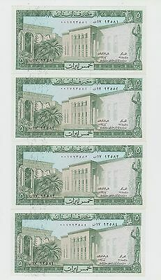 Lebanon 5 Liras  1964 Rare date UNC  ( the price for one note only  )