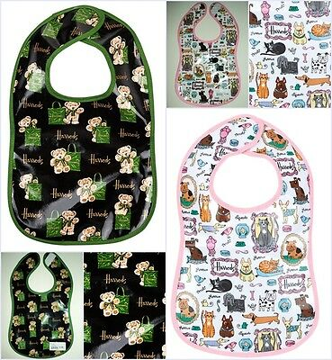 GENUINE Harrods Childs Kids Jacob Bear Bib / Quirky Pets Bib BNWT