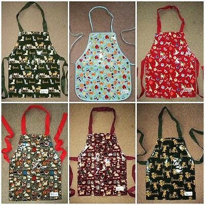 GENUINE Harrods Unisex Childs Kids PVC Coated Apron BNWT assorted designs