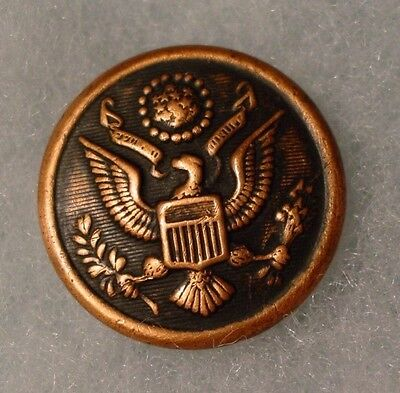 ANTIQUE WWI ERA Great Seal Military Button Steele & Johnson