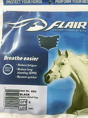 Flair Equine Nasal Strips 6 packs in black: barrel racing, Rodeo, eventing