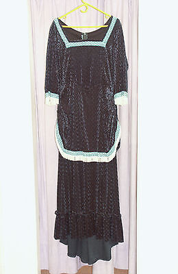 Women's Turquoise Edwardian Dress  Theatre Re-enactment Costume UK 14-16