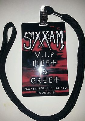 SIXX A.M AM 2016 Prayers for the Damned tour VIP meet and Greet pass NIKKI photo