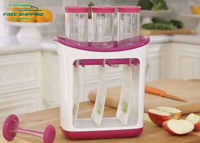 Squeeze Station Baby Fresh Natural Food Toddlers Lunches 10x Refill Pouches 4Oz