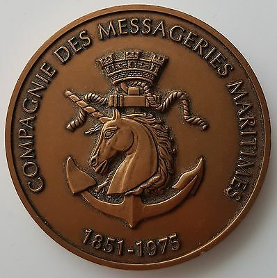 Medaille - Compagnie Des Messageries Maritimes 1851-1975 (V85)
