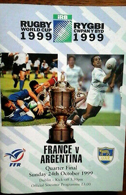 France V Argentina 24/10/1999 Rugby World Cup Qf @ Dublin
