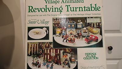 Department 56 Village Animated Revolving Turntable For Table Top