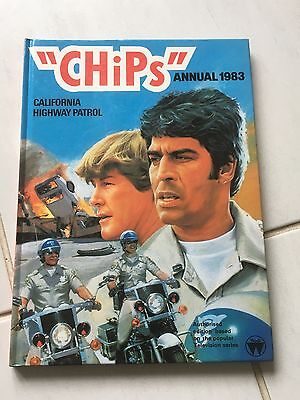 """CHIPS"" ANNUAL 1983 (California Highway Patrol) V Good Cond VINTAGE Cult TV Book"