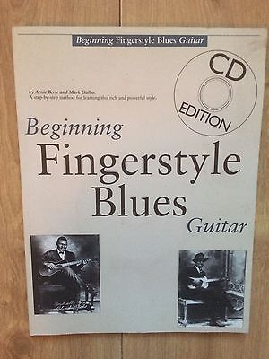 Beginning Fingerstyle Blues Guitar TAB Music Book & CD Step-By-Step Method
