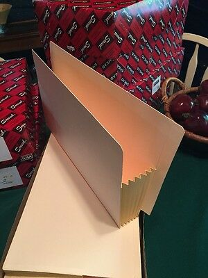 Accordian File Pocket folder Legal Size Expanding Expansion Box Of 10 MANILLA