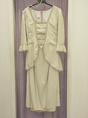 Women's Cream Edwardian  Lady 2 Piece  Theatre  Re-enactment Costume 48cm