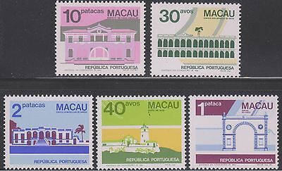 Macao Sc. 458 - 462 Public Buildings and Monuments 1982 MNH