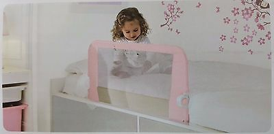 Lindam easy fit pink bed guard children safety and secure 18m to 5yr old