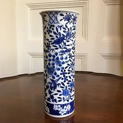 19th Century Chinese Blue and White Cylindrical Vase