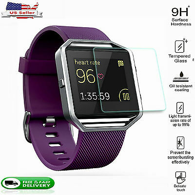 For Fitbit Blaze Tempered Glass Screen Protector Premium Protective Film 2 PACK