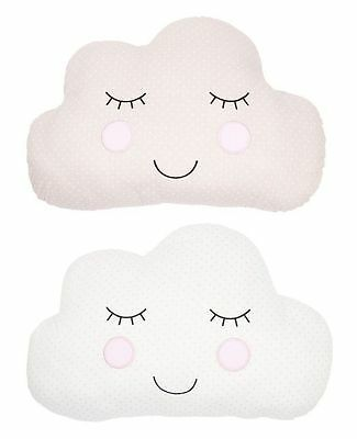 Cloud Shaped Cushion Pillow Soft Toy Baby Nursery Childrens Kids Bed Bedroom