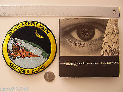 Devil's Ashpit Ascension Island Tracking Station Patch, Apollo MSFN Booklet NASA