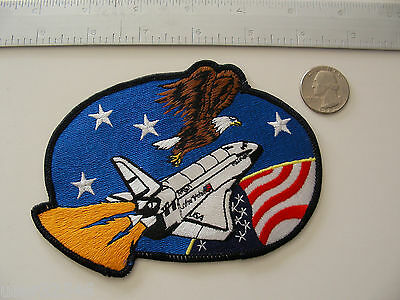 Rare Original Space Shuttle Patch (STS-42?) + Stamp NASA Discovery