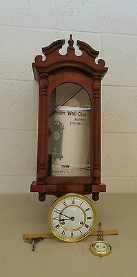 Vtg Emperor Cherry Wood Bavarian Unassembled Wall Clock Kit COMPLETE