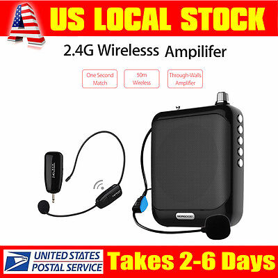 Waistband Voice Amplifier Booster 2.4G MP3 Wireless Microphone For Coach Guide