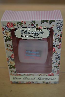 The Vintage Cosmetic Company Duo pencil sharpener in light pink colour RRP £4.95