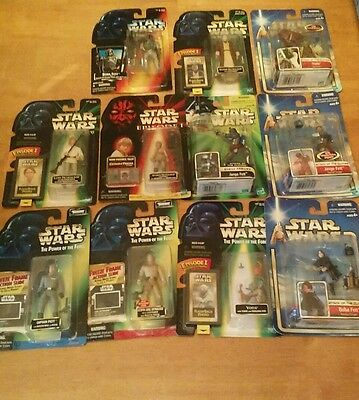 Star Wars Lot of 11 figures: The Power of the Force/Phantom Menace/ Clone Wars